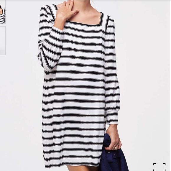 LOFT Dresses & Skirts - LOFT Square Neck Striped Dress
